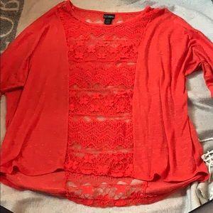 Orange quarter sleeve top